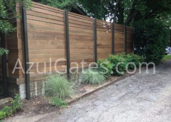 elegant wood fence