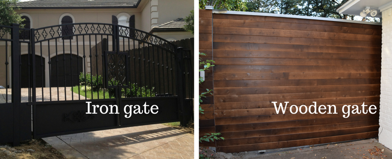 iron vs wood gate