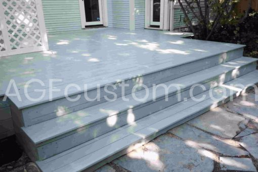 blue traditional deck