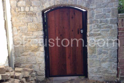 medieval wood gate
