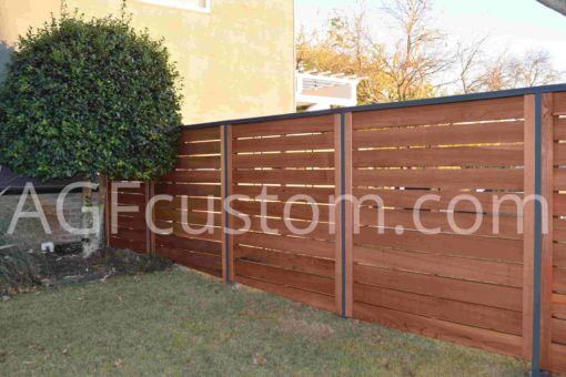 modern fence with metal frame
