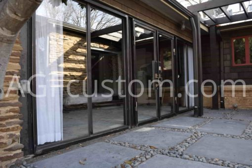 glass slide door