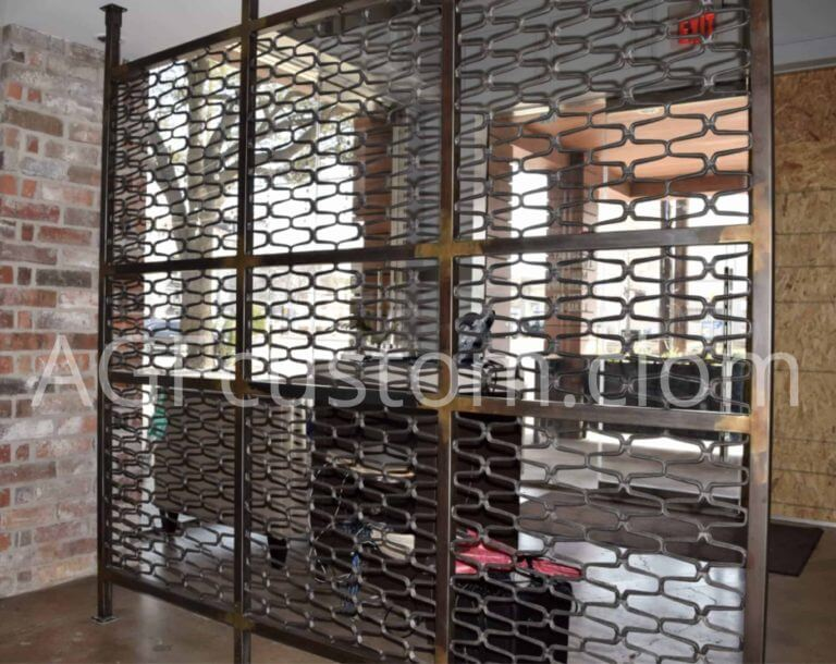 metal fence wall for restaurant