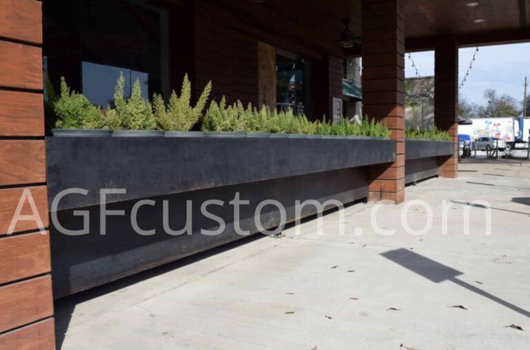 modern metal planter