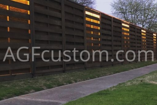 modern fence with lighting