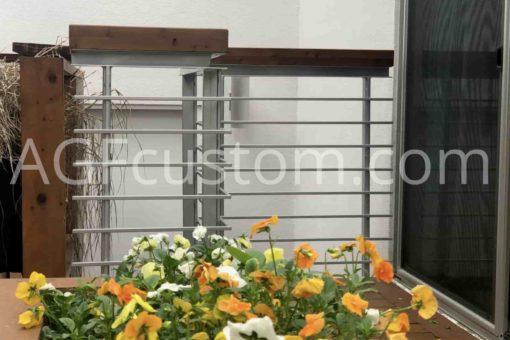 silver handrails