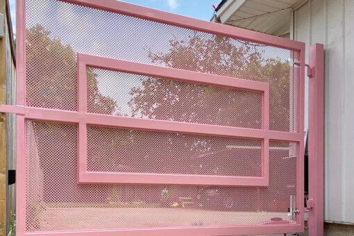 entryway pink gate
