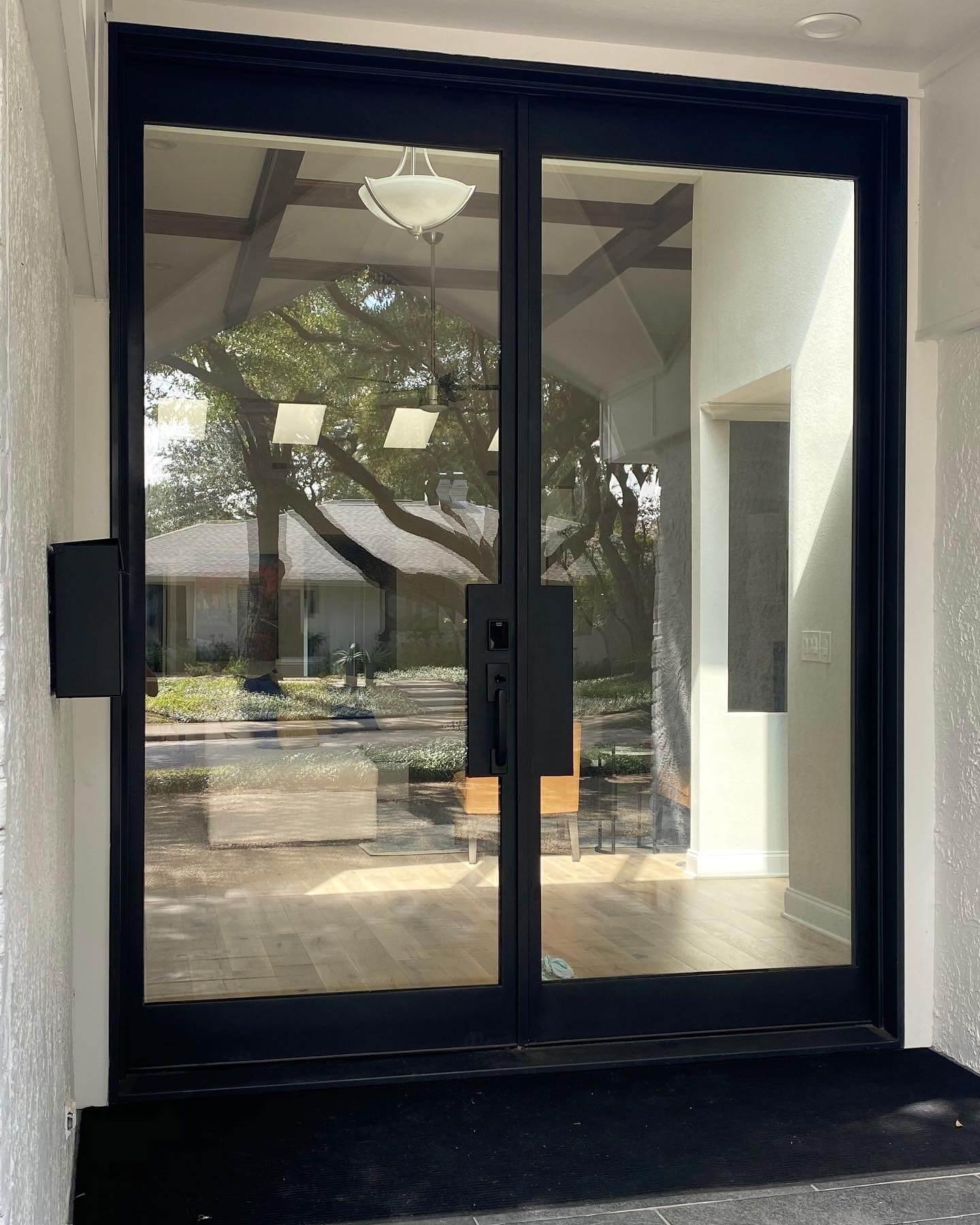 Modern Double Glass Door