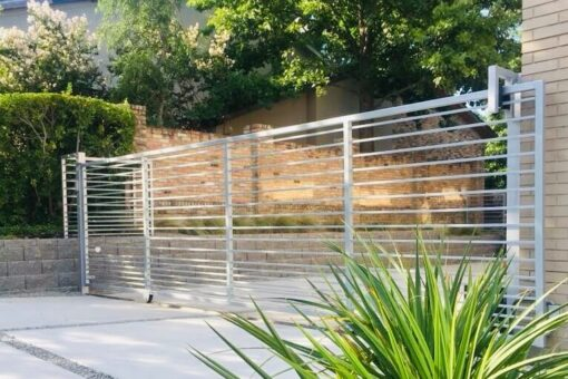 modern metal slide gate
