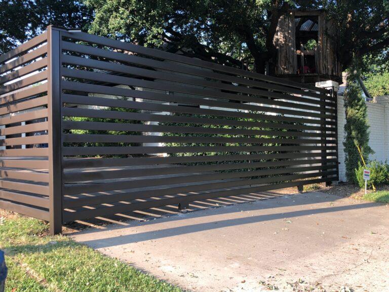 modern metal driveway gate